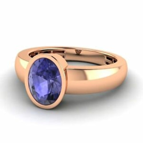 Bezel Set Tanzanite Ring