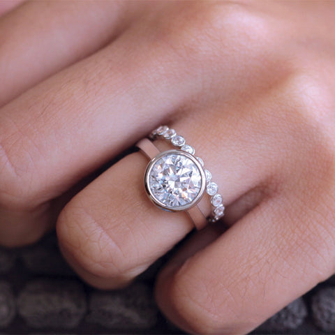 Harmony Wedding Set - Silver
