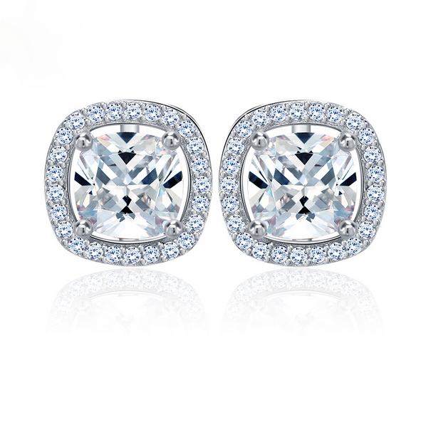 Cushion Cut Halo Solitaires
