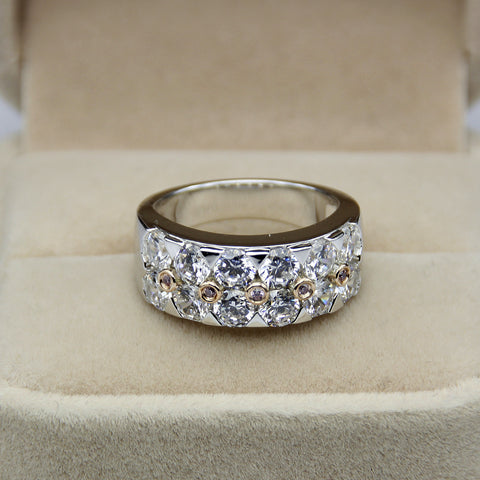 Elizabeth Band - Silver & Rose Gold