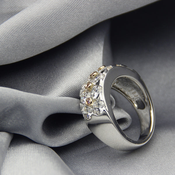Elizabeth Band - Solid Gold & Silver Combination
