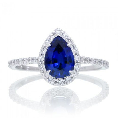 1.01ct Exceptional Natural Blue Pear Sapphire - Loose Gem