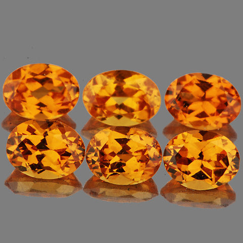 4x3mm Oval Natural Best AAA Fanta Orange Spessartite Garnet