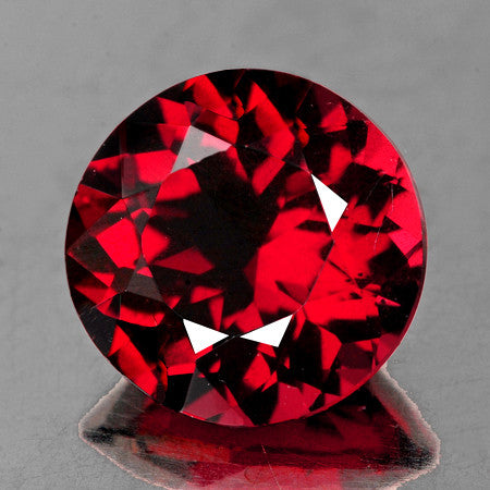 6.00 mm Round {1.13 cts} Natural AAA Fire Red Rhodolite Garnet
