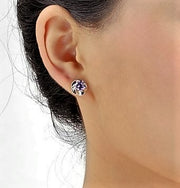 Open Flower Stud Earrings