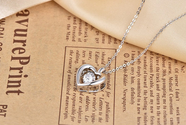 Heart Beat Dancing Halo Pendant