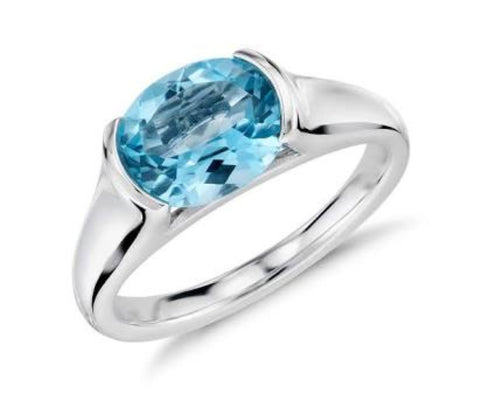 London Blue Topaz Band - Silver
