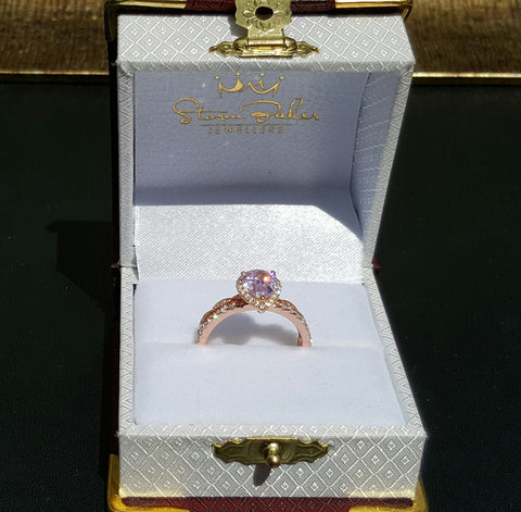 Morgan Pink Pear Engagement Ring