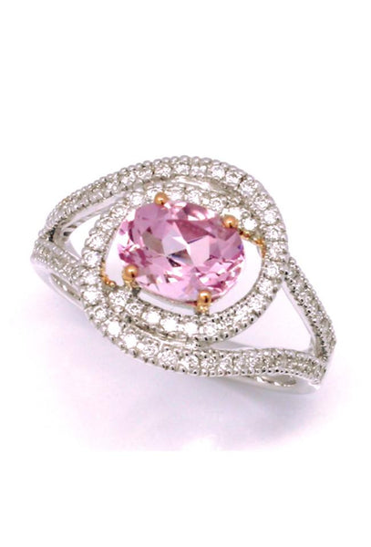 1.04ct Natural Morganite & Diamonds - 'Hera' Goddess of Women Ring