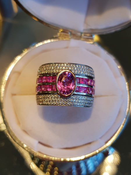 Natural Pink Sapphire Band - Fine