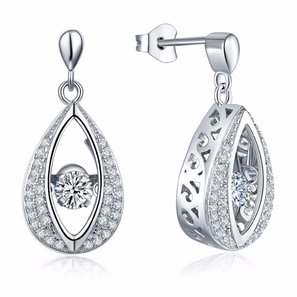 Dancing Aurora Collection Pear Earrings