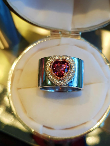 Heart Tourmaline Bezel Ring