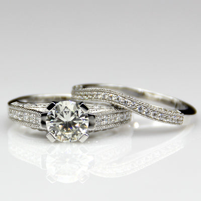 Pictured in 14k White Gold with 1ct Valerian Mainstone