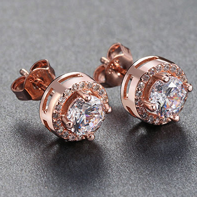Halo Solitaire Earrings