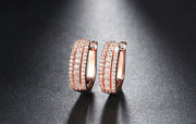 Triple Row Pave Set Earrings - 3 styles