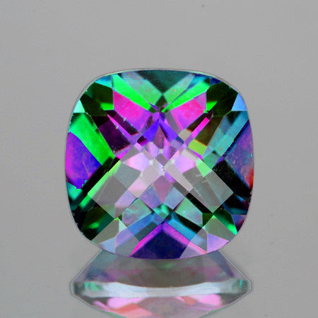 14.00mm Cushion AAA Rainbow Mystic Natural Topaz