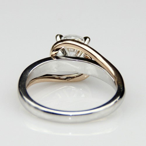 Rose Twist Ring - Silver