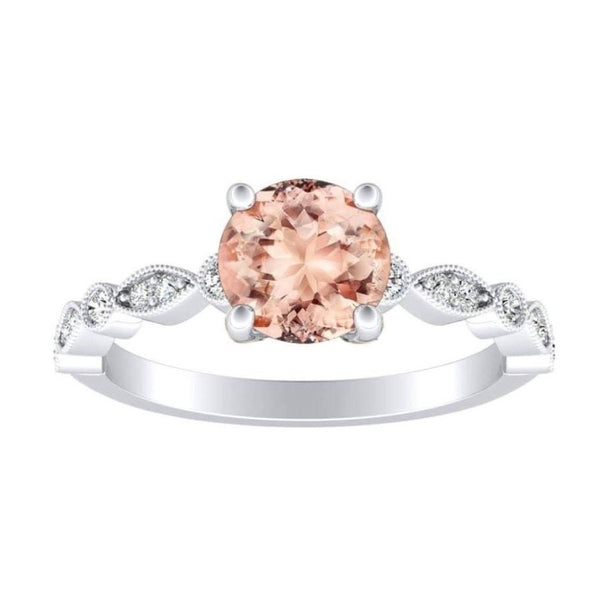 Peach Morganite Vintage Ring