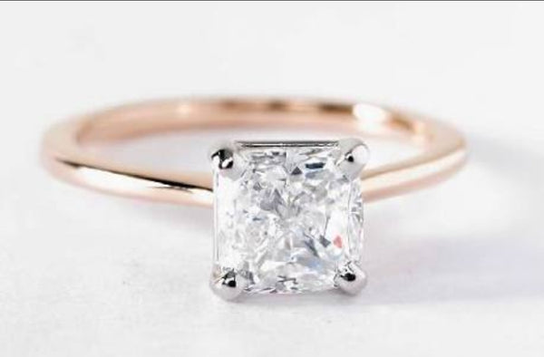 Cushion Cut Solitaire - Fine