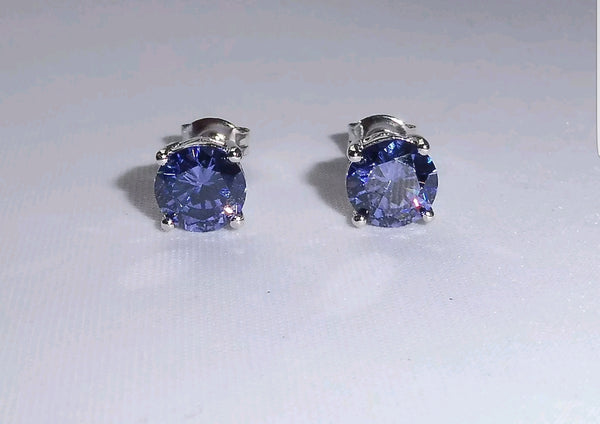 1.2ct Enhanced Violet Tanzanite Earrings