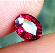 1.06 Certified Raspberry Red Spinel - Loose Gem