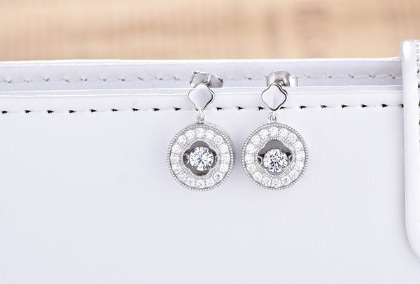 Vintage Halo Drop Dancing Earrings