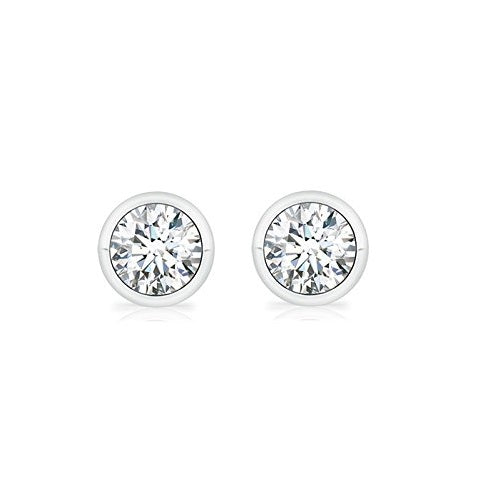 Classic Bezel Solitaire Earrings