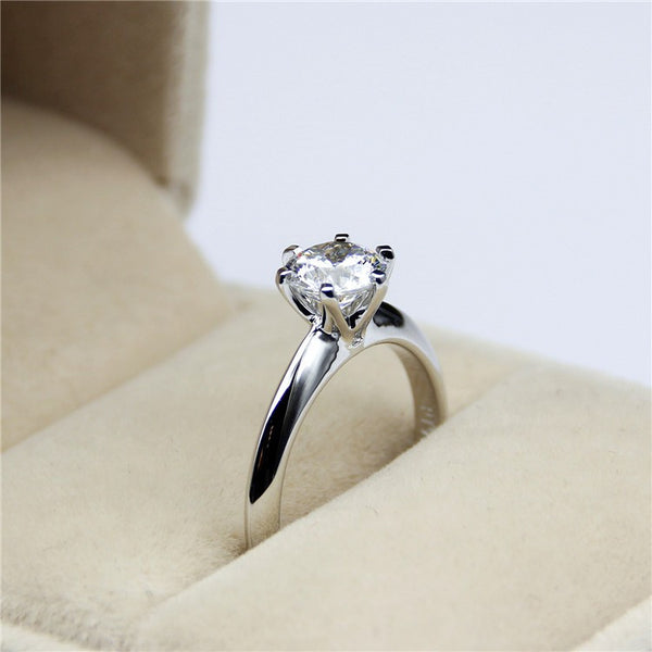 Classic Tiffany Style 6 Claw Solitaire