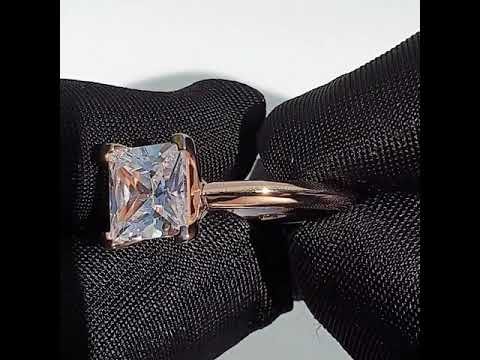 3ct Rose Gold Taylor Ring- Custom 0042