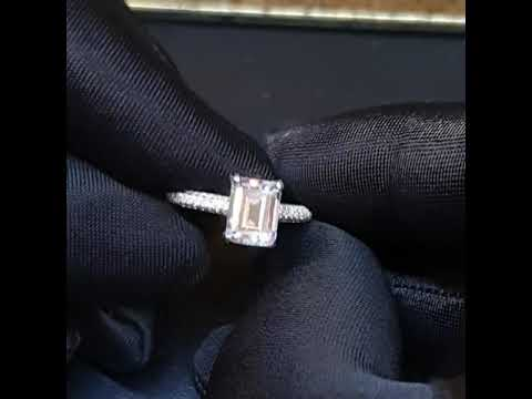 Emerald Cut Engagement Ring- Custom 0058