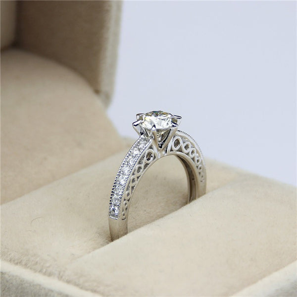 Barbera - Antique Filigree 1CT Round Engagement Ring