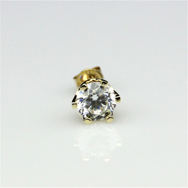 Incredible 100 Facet Valerian Solitare Gold Studs