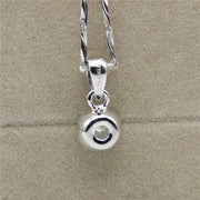 Six-claw Solitaire Pendant - Silver