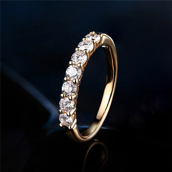 Classic Pave Accents 0.42CTW Diamond Wedding Band