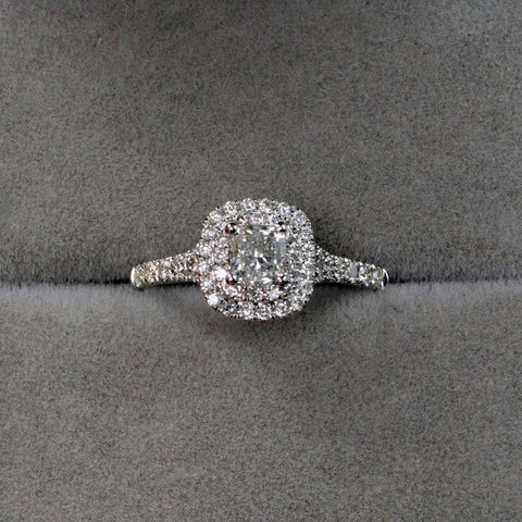 Marigold Cushion Cut Double Halo Ring - Fine