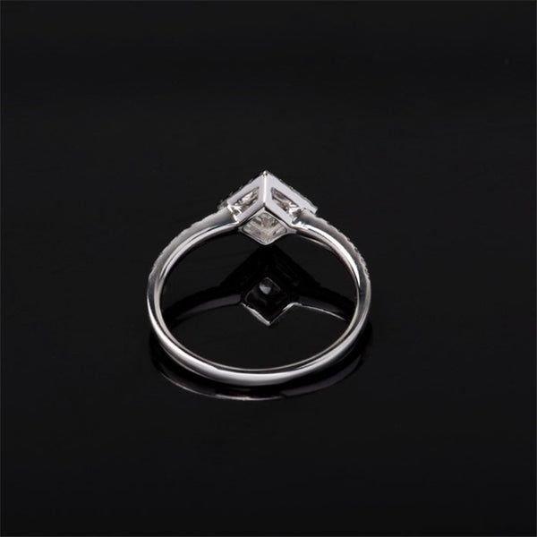 Ophelia Square Halo Ring
