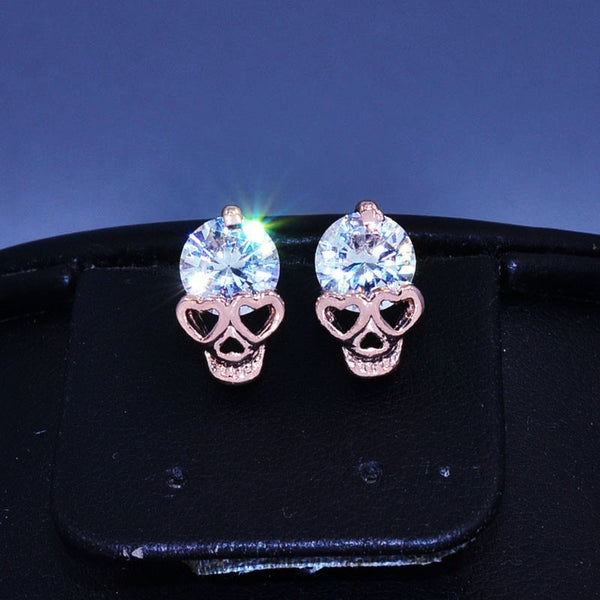 Sparkling Skull Earrings