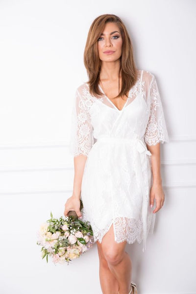 Homebodii Sabrina Lace Robe