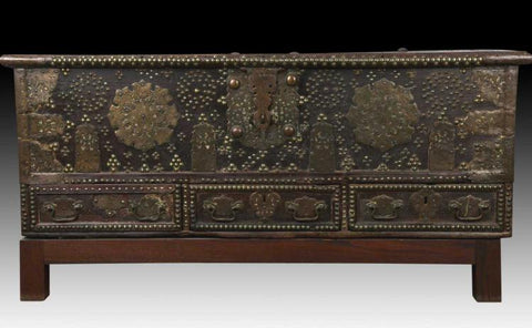 Large Antique Middle Eastern Dowry Chest