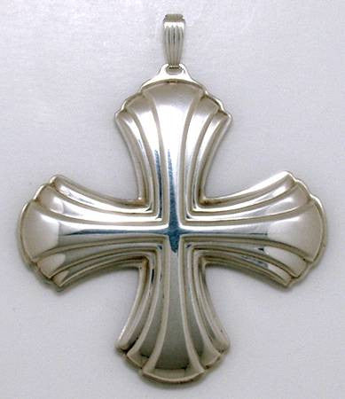 Reed & Barton Sterling Silver 1980 Christmas Cross Ornament