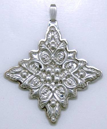 Reed & Barton Sterling Silver 1989 Christmas Cross Ornament