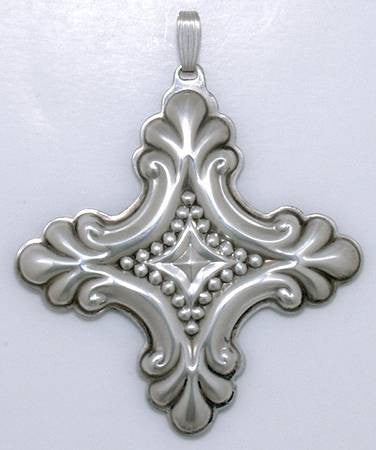 Reed & Barton Sterling Silver 1990 Christmas Cross Ornament