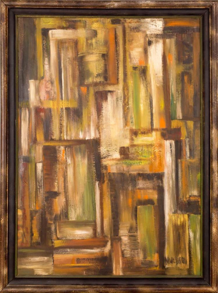Original Abstract Oil Painting By Max Weber (1881-1961)