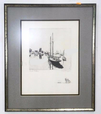 Lionel Barrymore Quite Waters Etching 100178