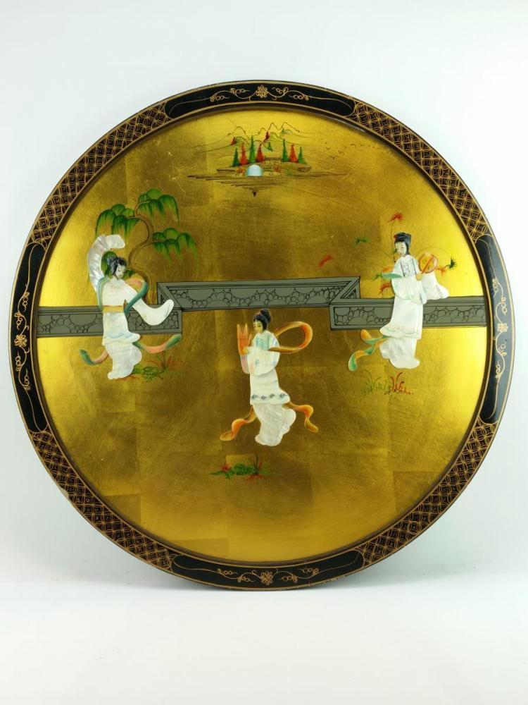 Mother of Pearl Round Decorative Panel