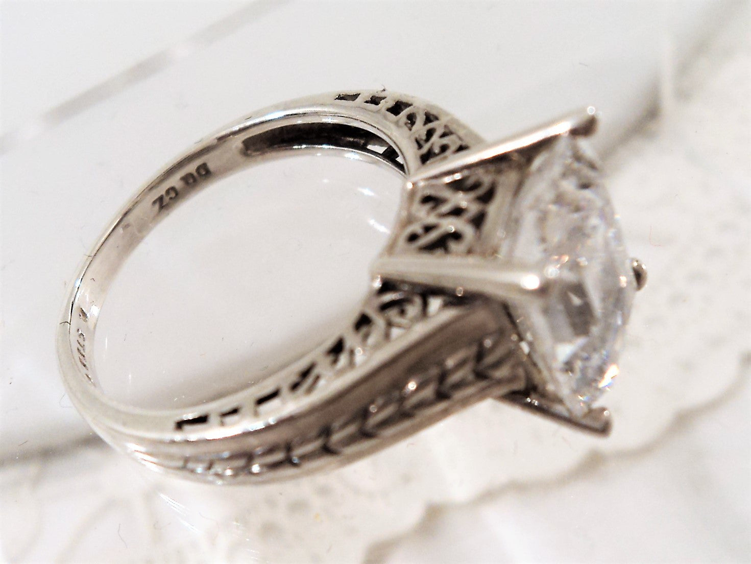 Vintage Sterling Silver and Cubic Zirconia Ring
