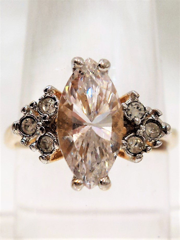 Gold Over Sterling Silver Cubic Zirconia Ring