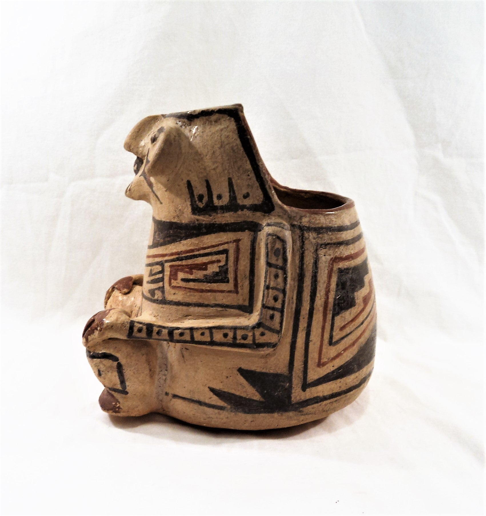 Mata Ortiz Effigy Pottery Bowl
