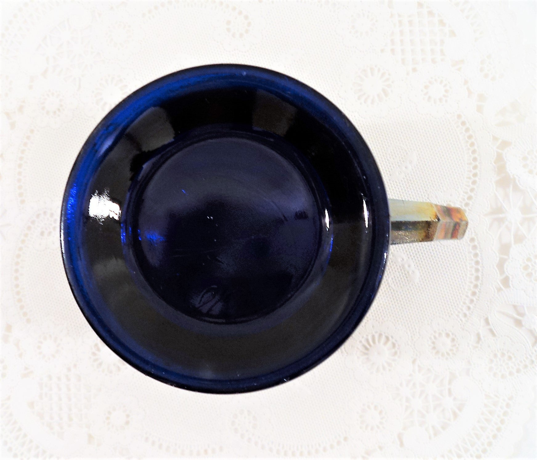 1915 Fenton Cobalt Blue Shaving Mug Carnival Glass