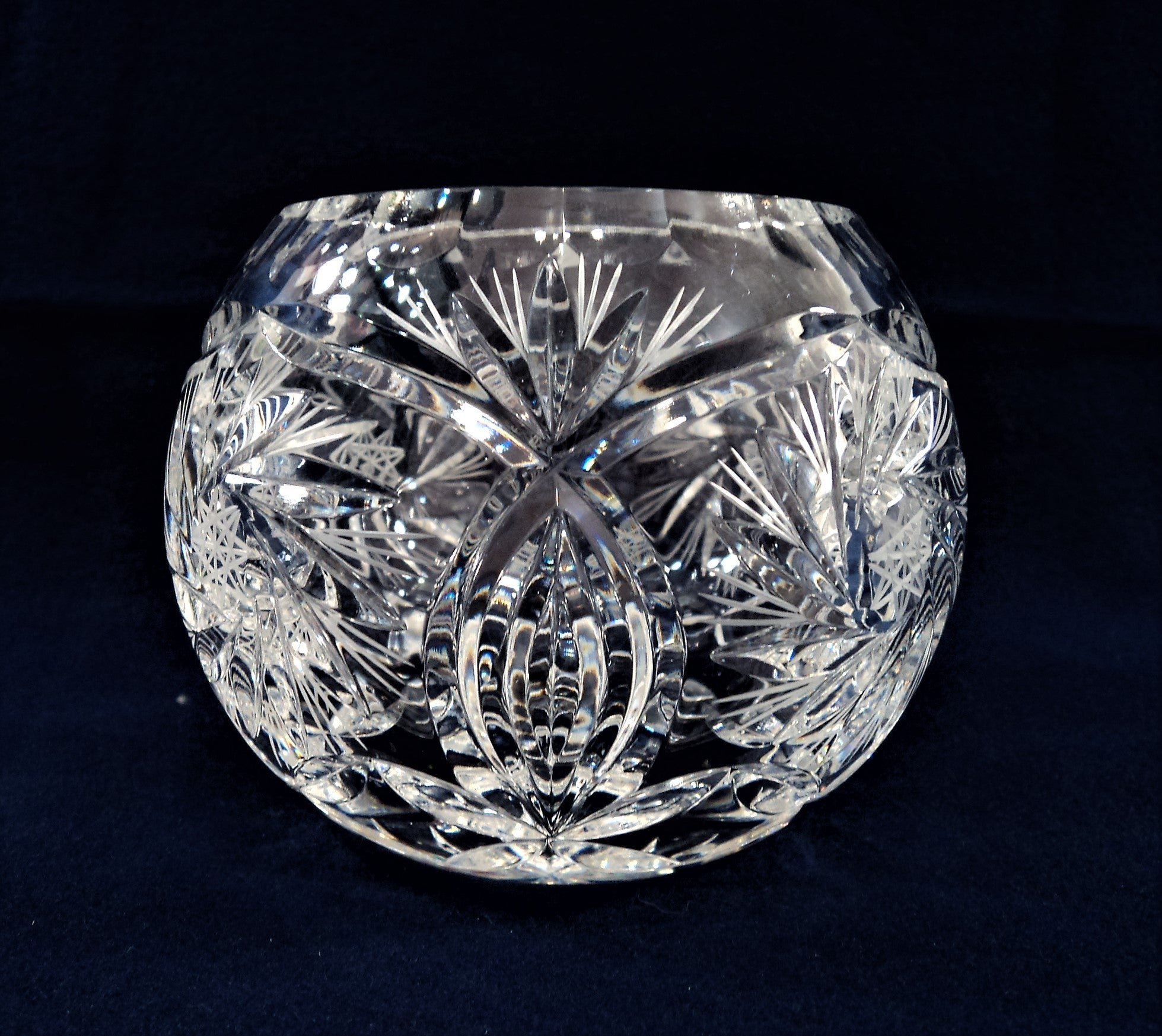 Leaded Crystal Rose Bowl